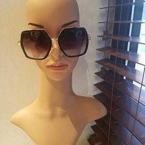 Black Hexagon Shaped Sunglasses..